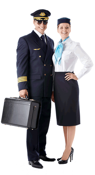 pilot and cabin crew